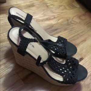 Mossimo Supply Co Black Wedges Size 11